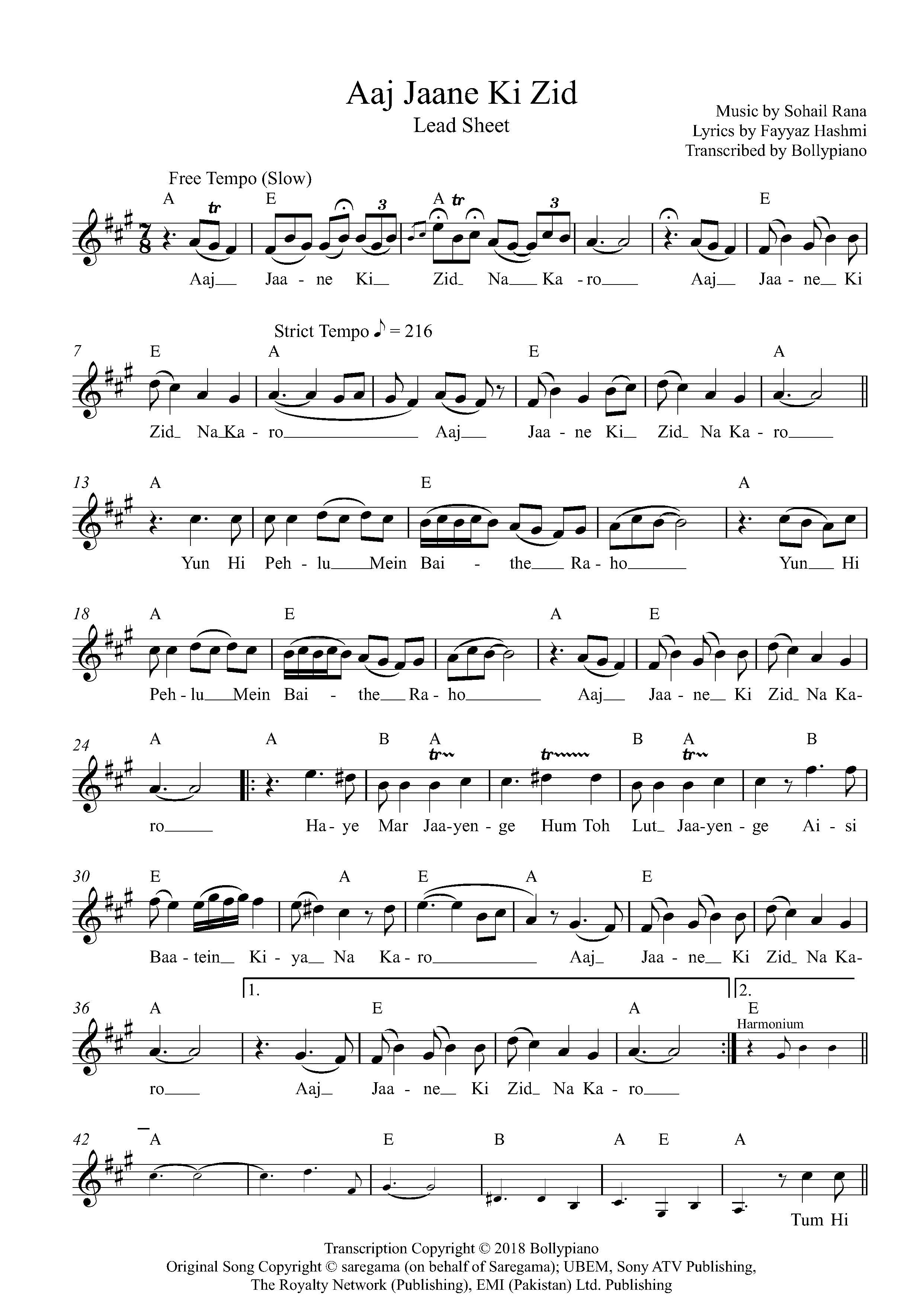 Aaj Jaane Ki Zid Flute Violin Notes Lead Sheet Music Pdf Besharam bewaffa song sargam notes in hindi i lyrics i jagjit singh is available on sangeetbook. aaj jaane ki zid flute violin notes lead sheet music pdf