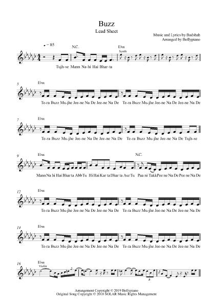 Buzz flute / violin notes