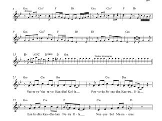 Vaarayo Vaarayo - Aadhavan flute / violin notes