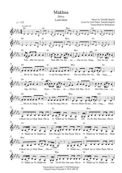 Makhna - Drive flute / violin notes