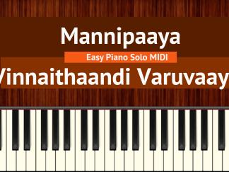Mannipaaya - Vinnaithaandi Varuvaayaa Easy Piano Solo MIDI