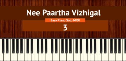 Nee Paartha Vizhigal - 3 Easy Piano Solo