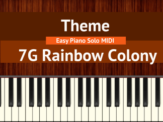 7G Rainbow Colony Theme Easy Piano Solo MIDI