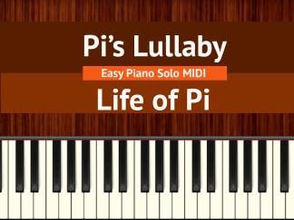 Pi's Lullaby - Life of Pi Easy Piano Solo MIDI