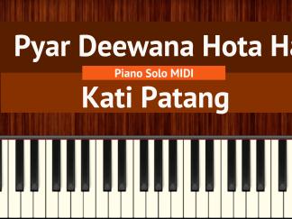 Pyar Deewana Hota Hai - Kati Patang Piano Solo MIDI