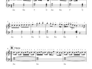 Vaseegara - Minnale easy piano notes
