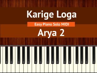 Karige Loga - Arya 2 Easy Piano Solo MIDI