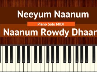 Neeyum Naanum - Naanum Rowdy Dhaan Easy Piano Solo MIDI