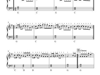 Moora - Gangs of Wasseypur 2 easy piano notes