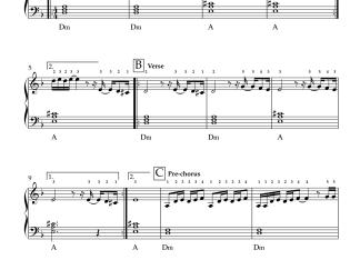 Nee Choopule - Endukante Premanta easy piano notes