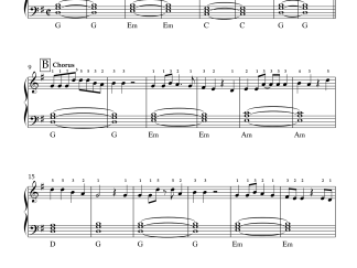 Nazm Nazm - Bareilly Ki Barfi Easy Piano Notes PDF