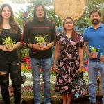 Celebs from Film and TV visited Flower show and exhibition at Jijamata Udyaan