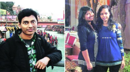 Mayank Goel, Archana Kumari & Deeksha Gautam. Photo by Indian Express