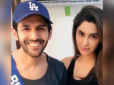 Kartik Aaryan With Dimple Sharma