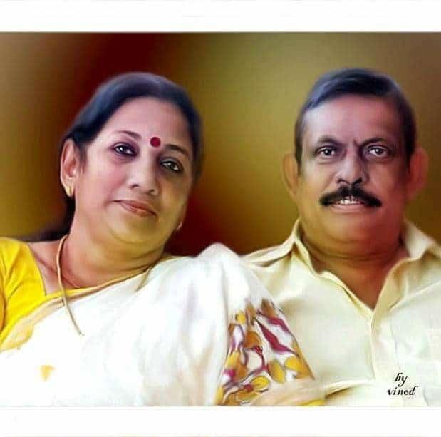 Sandhya Rajendran With Her Husband
