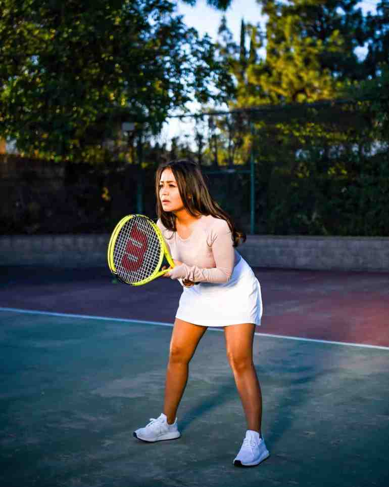 Neha Kakkar Playing Badminton