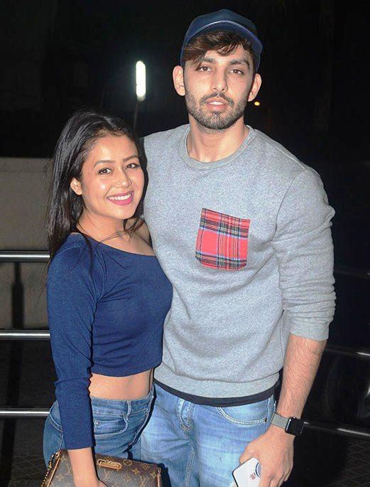 Neha Kakkar with Himansh Kohli