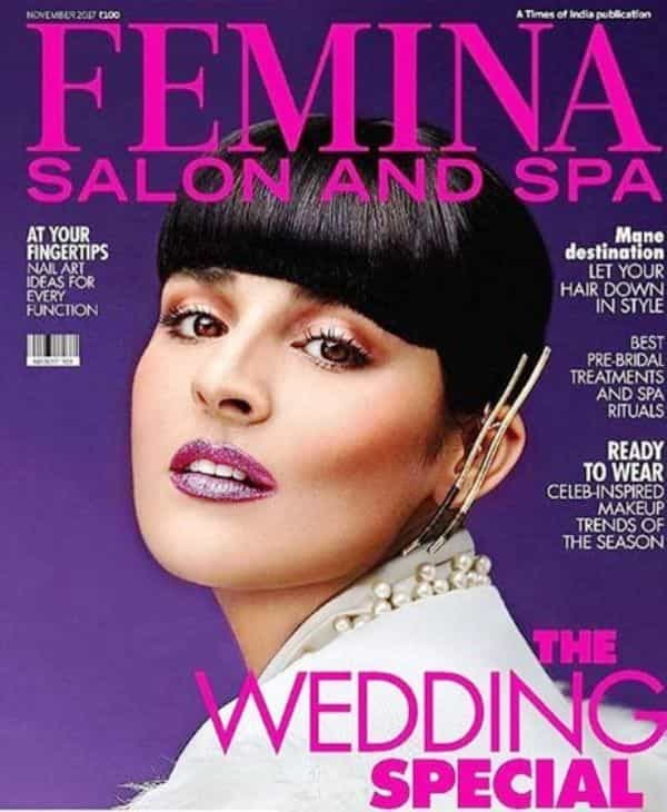 Angira Dhar on femina cover page