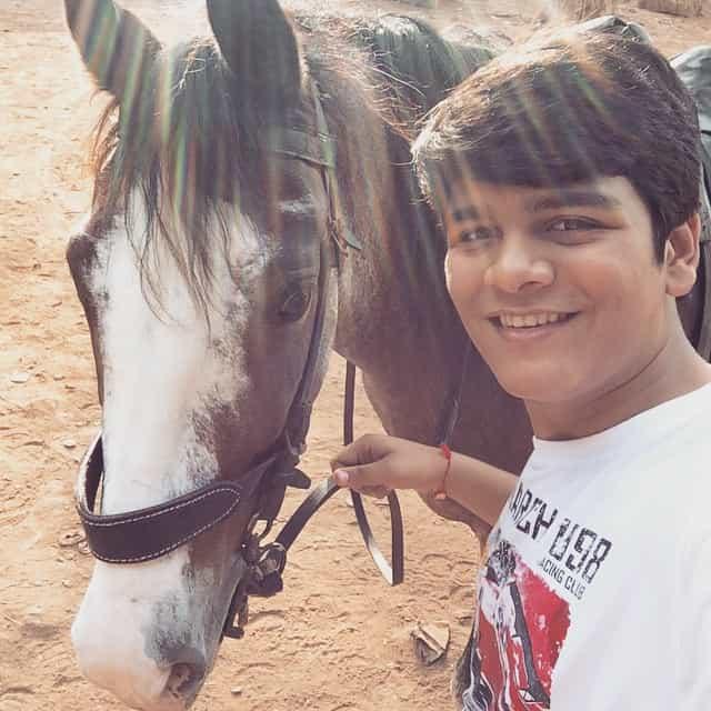 Bhavya Gandhi Horse Riding