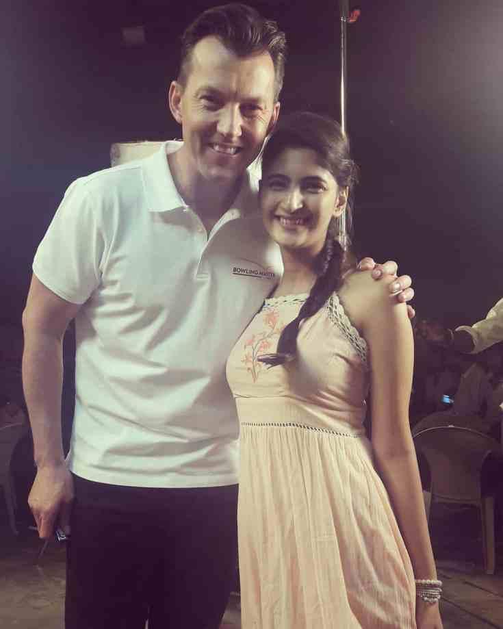 Shivani Raghuvanshi with Brett lee