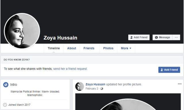 Zoya Hussain pics