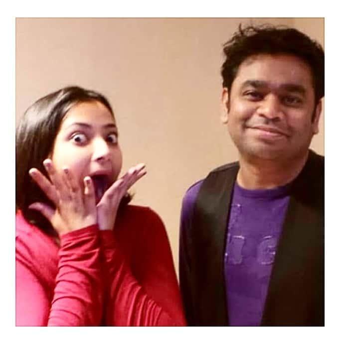 Shweta Basu Prasad with A R Rahman