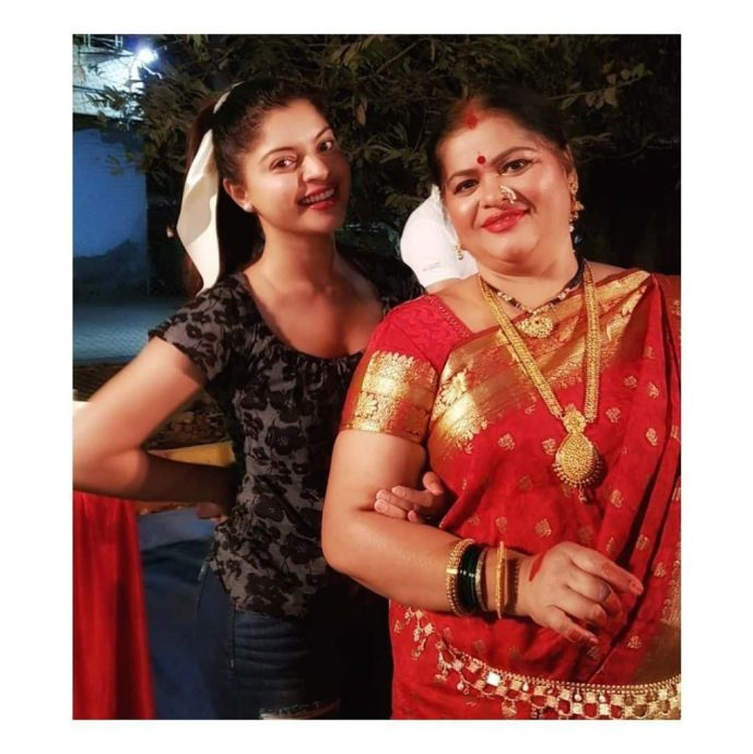 Sneha Wagh with her mother