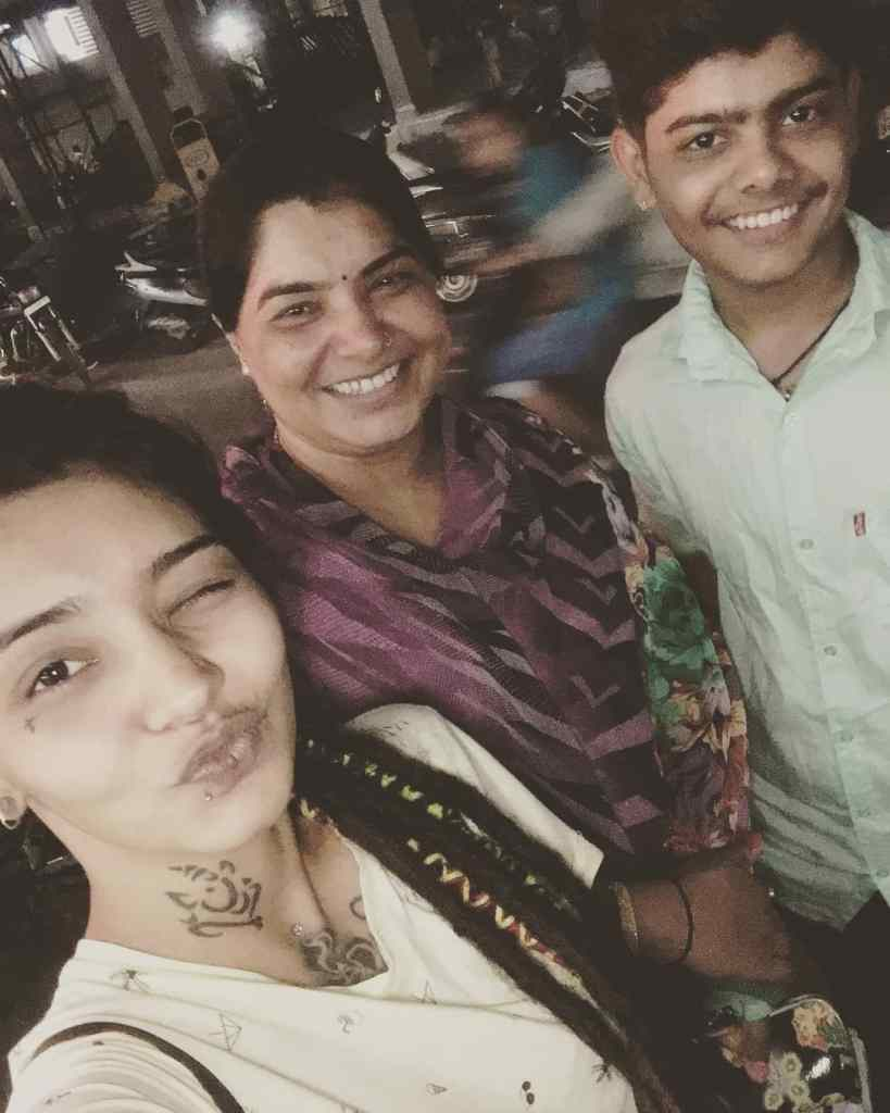 Wish Rathod with her Mother