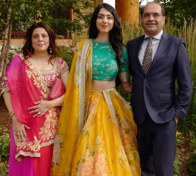 Elissa Patel with her Family