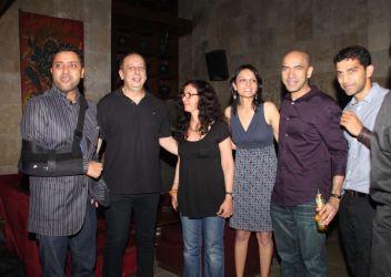 Ash Chandler, Sohrab Ardeshir, Shernaz Patel, Seema Rahamani, Kamal Shah-Giju John (Producers) at the Salsa Nite for the film 'Love, Wrinkle-Free'