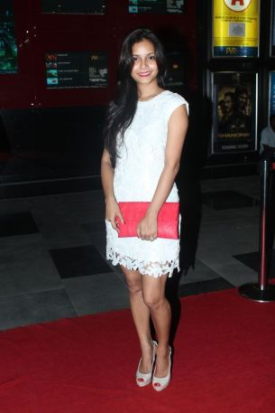 Junelia Agular (Ash's Wife) at the Red Carpet of 'Love, Wrinkle-Free' premiere at PVR, Phoenix.