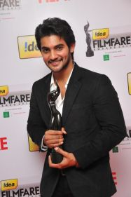 Aadi received The Best Debut Actor (Critics) Award for the Film' Prema Kavali' at the '59th !dea Filmfare Awards 2011' (South) on 8th July at Jawaha