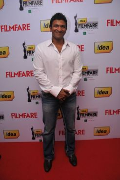 Puneeth Rajkumar received the Best Actor (Male) Kannada Award for the film 'Hudugaru' at the '59th !dea Filmfare Awards 2011' (South) on 8th July at