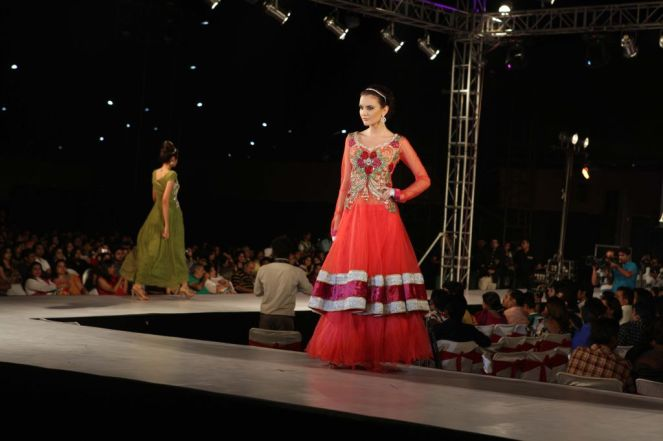 35 - Models with designer Asif Shah's collections in Indore at Sayaji Palace.