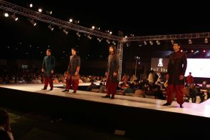 43 - Models with designer Asif Shah's collections in Indore at Sayaji Palace.