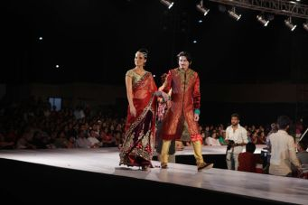 50 - Shawar Ali walks the ramp for designer Asif Shah's collections in Indore at Sayaji Palace.,,,.
