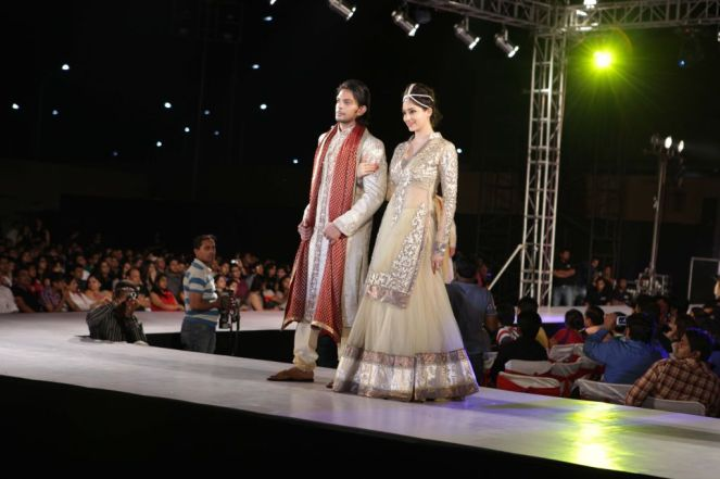 55 - Models with designer Asif Shah's collections in Indore at Sayaji Palace.