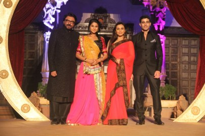 Sanjayleela Bansali along with Rani, SaraswatiChandra (Gautam Rode) and Kumud (Genifer) during the press conference of SaraswatiChandra. Show starting on 25th Feb 7.30 pm on STAR Plus