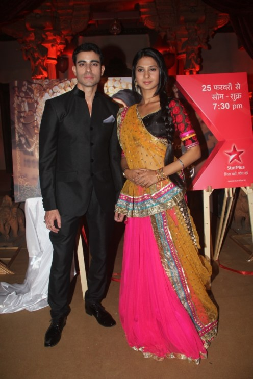 SaraswatiChandra (Gautam Rode) and Kumud (Genifer) during the press conference of SaraswatiChandra. Show starting on 25th Feb 7.30 pm on STAR Plus