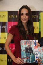 Angela Jonsson at the Grazia Underwater cover shoot launch at Oive, Mahalaxmi.,.