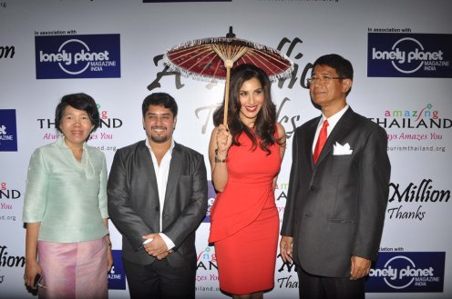 Higher Authorities of Thailand with Sophie Chaudhary & Vardhan Kondvikar (Editor - Lonely Planet Magazine) at the Million Thanks Evening at Shangri La,,