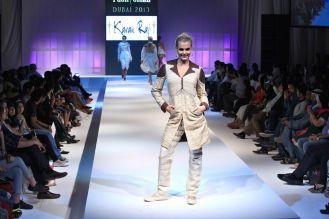 A Model showcasing Karan Raj's design at the finale of 'Fashion Me 2013' in Dubai