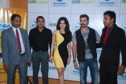 Mr. Mahesh Chakankar, Amit Singh, Ameesha Patel, Neil Nitin Mukesh & Prashant Mishra at the Launch of 'Jaipur Premier League' Season-2