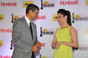 Mr. Tarun Rai & Tamanna at the '60th Idea Filmfare Awards 2012' (South) Press conference.,