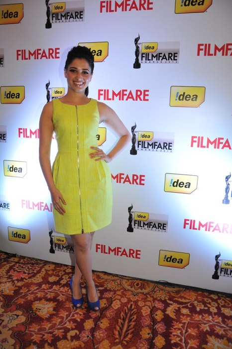 Tamanna at the '60th Idea Filmfare Awards 2012' (South) Press conference,