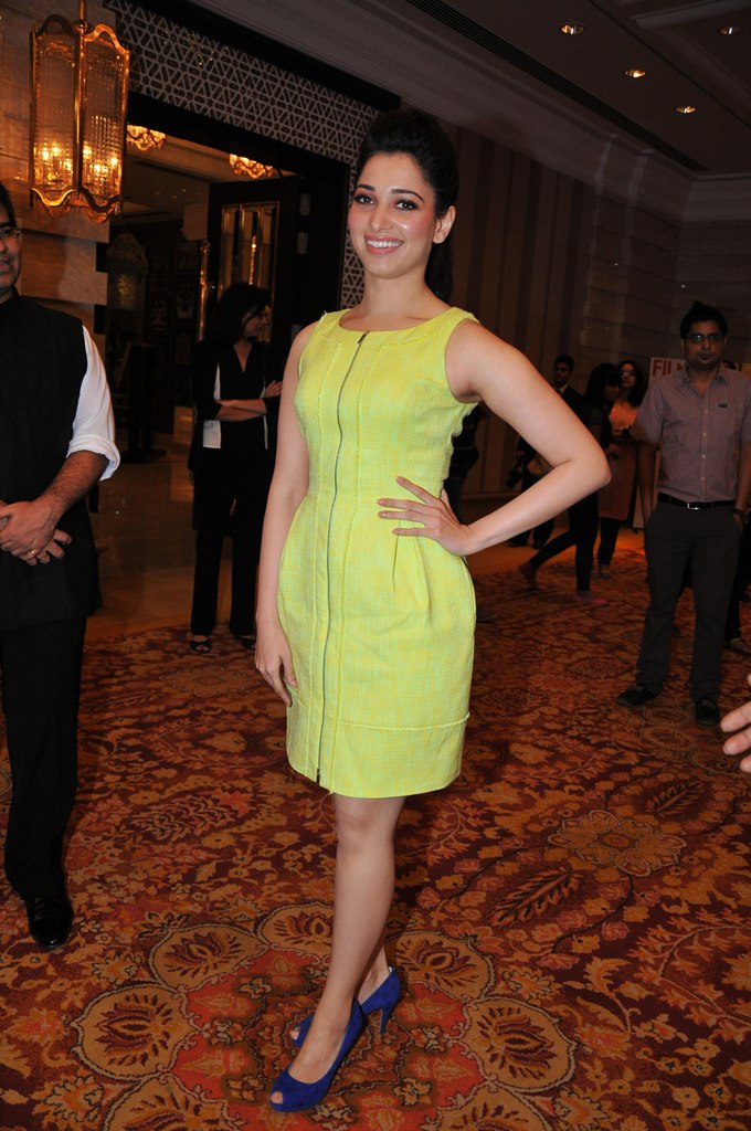 Tamanna at the '60th Idea Filmfare Awards 2012' (South) Press conference...