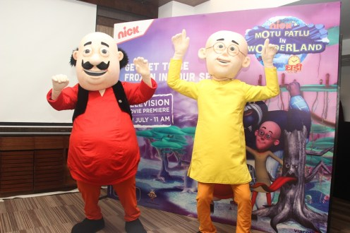 (2) Motu and Patlu at the preview of Motu Patlu in Wonderland on July 3, 2013