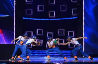 IDS contestants D Maniax while performing their act
