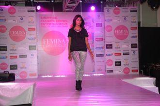 Model walking the ramp at fashion show at the 'Femina Carnival 2013' at Hyatt Regency, Pune....
