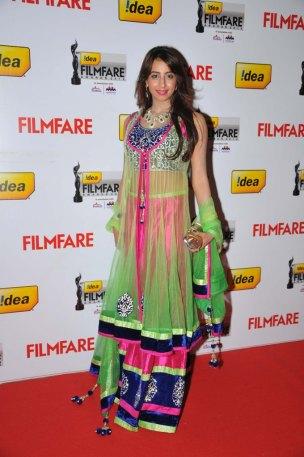 Sanjjanaa on the Red Carpet of '60the Idea Filmfare Awards 2012(South)